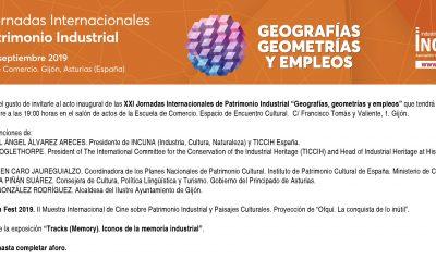 Miércoles 25 de septiembre os invitamos a la inauguración II Muestra Internacional de Cine sobre Patrimonio Industrial y Paisajes Culturales IncunaFilmFest2019